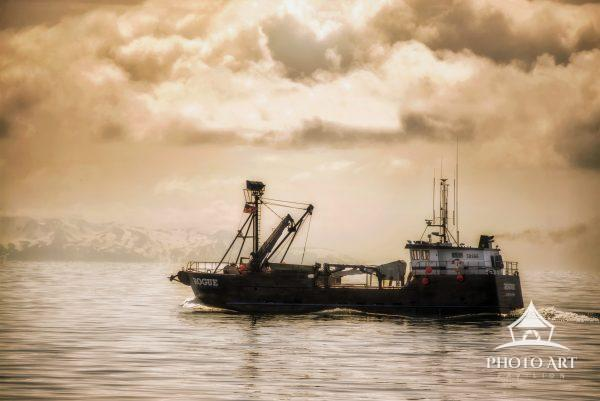 The Rogue fishing trawler in Prince William Sound, Alaska.