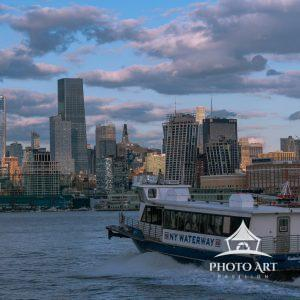 The New York Waterway offers ferry rides for visitors looking to tour New York City and New Jersey.
