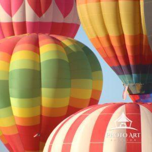 Hot air balloons at the annual Balloon Fiesta in Albuquerque, NM.