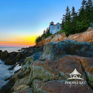 There aren't many different perspectives available to photograph the Bass Harbor Lighthouse within