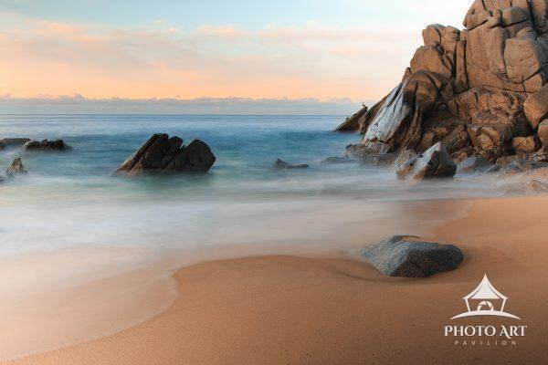 A peaceful morning on Sunset Beach in Cabo. Calm seas and a warm breeze are commonplace along the
