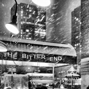 A bitter cold December night at The Bitter End. This iconic music venue is located in Greenwich