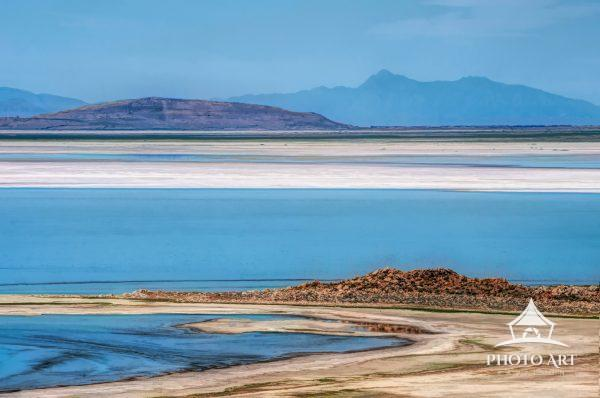 Digital painting of Great Salt Lake, Davis County Utah