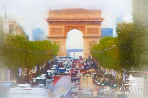 While attempting to drive along the one of the most famous streets in Paris, The Champs-Élysées, I