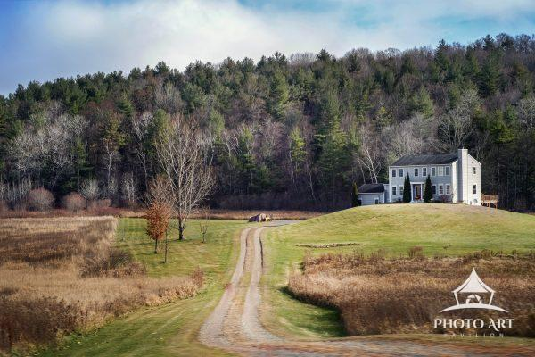 House on a hill along the mountains of Vermont (though it might be near the Massachusetts border).