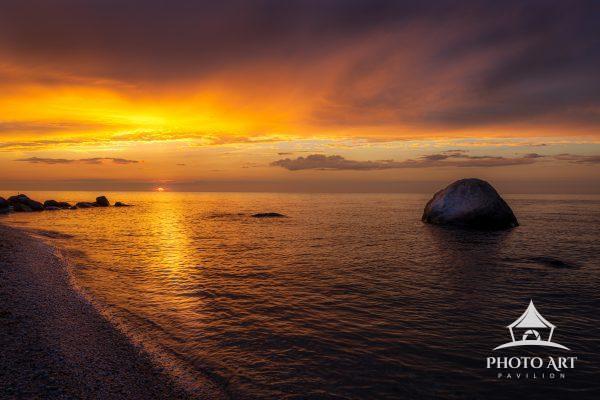 Serene Golden sunset on Long Island's famous North Fork.