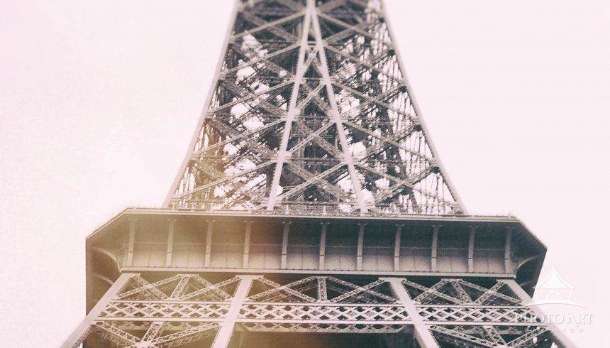 Eiffel Tower shot on photographic film with a manual camera