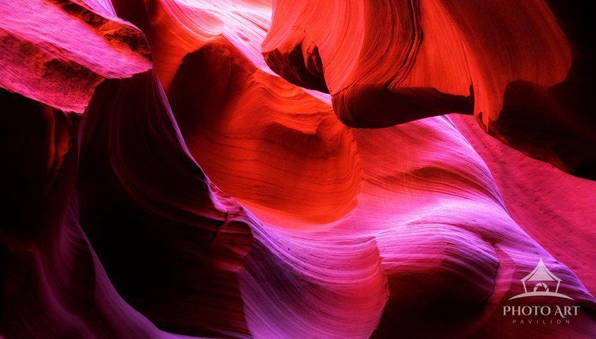 Rock formations in the slot canyon, Antelope Canyon, Arizona