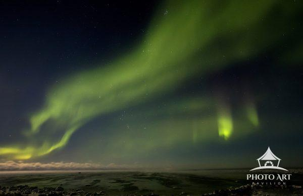 The Aurora Borealis over the Canadian Arctic