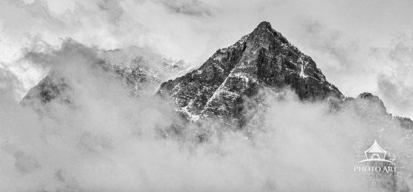 The weather breaking over the Teton Mountains