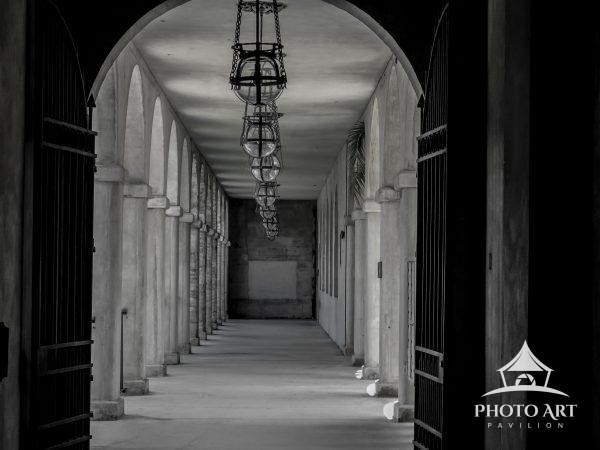 A sunlit walkway