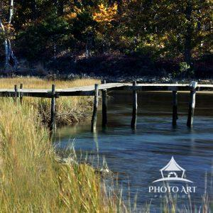 Part of the Mashomack Preserve this bridge leads to the Long Island Sound. Take on a warm fall day.