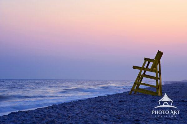 Lifeguard Chair at Sunset