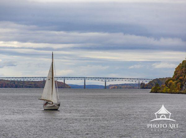 A balmy day for a beautiful sailboat excursion along the Hudson River. A combination of azure skies