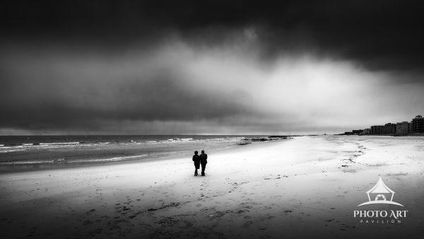 A last stroll on the beach before the heavens opened up at Long Beach, Long Island.