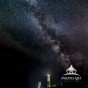 The Montauk Light under the beauty of the Milky Way.