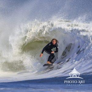 The power of the barrel with a surfer in total control & concentration. Hurricane Teddy (9/21 &