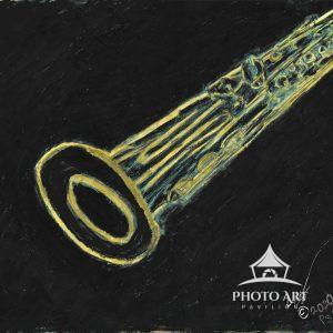 Soprano Sax Gold on Black