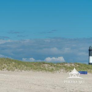 Beach life under the Robert Moses Lighthouse.