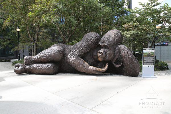 Concrete Jungle. King Nyani - The massive Gorilla Sculpture has a new home in Hudson Yards, New York