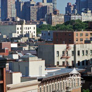 A view of West Harlem from Morningside Drive in Upper Manhattan