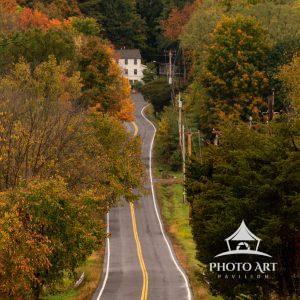 Leaf peeping while driving along a country road.