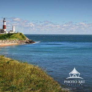 The lighthouse at Montauk Point, the easternmost point of Long Island's south fork, stands guard