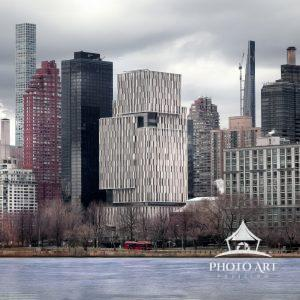 Part of the New York City skyline as seen from Astoria, Queens. New modern buildings mixed with the