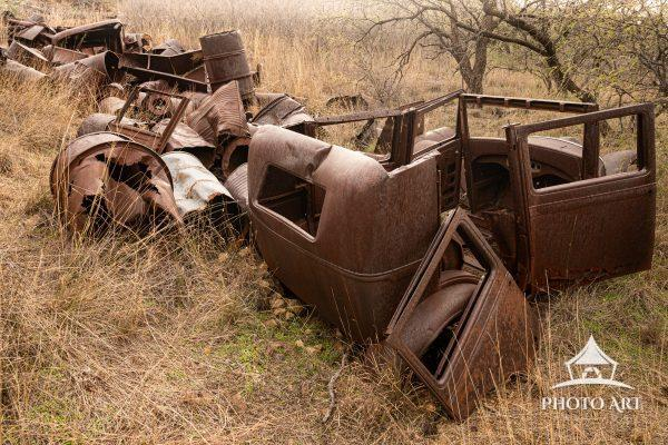 Rusted remains in of the abandoned town of Ruby, Arizona await their return to Mother Earth