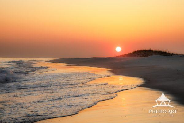 Crisp air serves up a clear sky for a quiet sunset on Fire Island, Long Island, NY