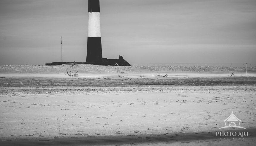 Lighthouse Reflection B&W