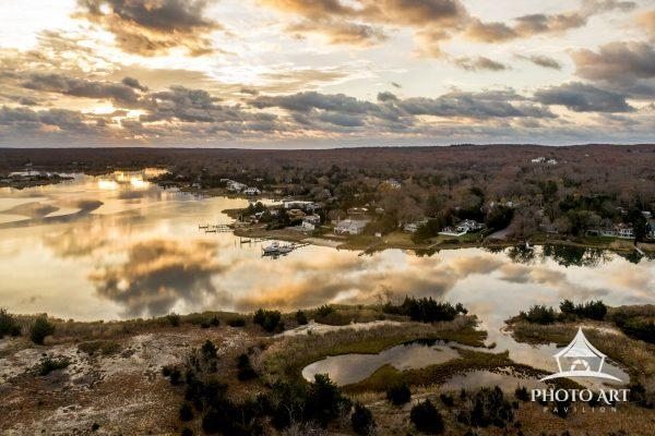Paynes Creek, Southampton NY cloud reflection