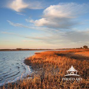 A tranquil, late afternoon, walk along the bay and salt marsh in Orient reveals intense shades of