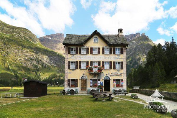 Cute pensione situated at the entrance of the Alpe Devero Mountains in Northern Italy.