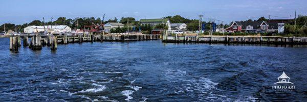 Surrounded by water Long Island provides many dockside views. this photo-liminal image was created