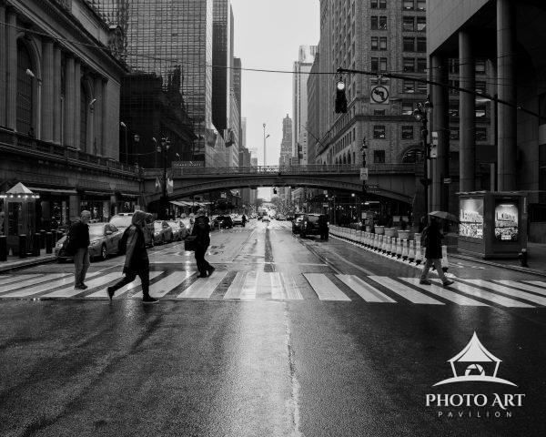 An empty 42nd street at the start of NYC's COVID lockdown