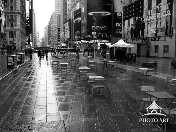 An Empty Times Square at the start of NYC's COVID Lockdown