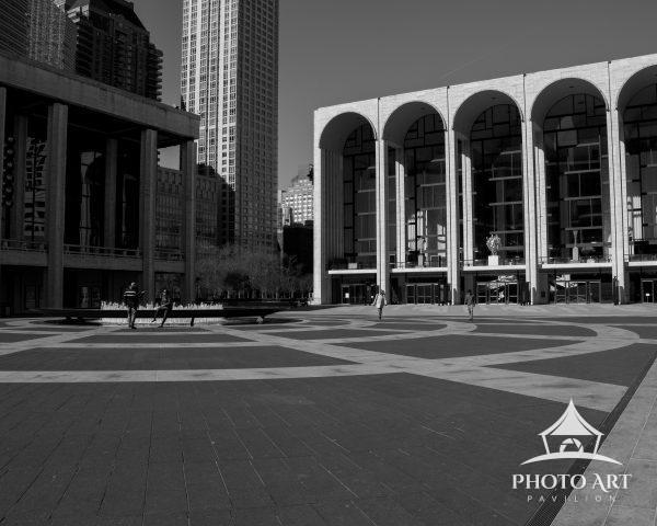 Lincoln Center's Plaza was empty at the start of NYC's COVID lockdown