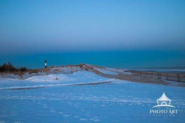 fire island lighthouse snow