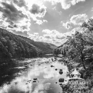 Black and White photo of the North Creek in up state New York