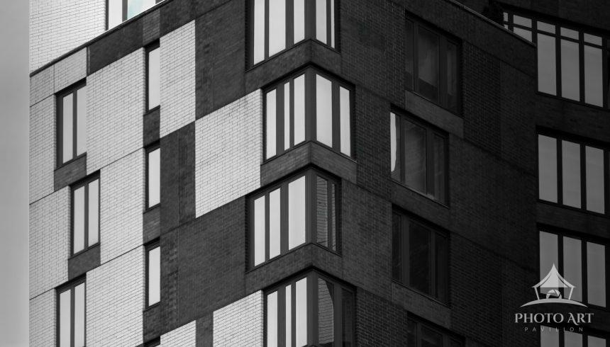 Black and White building in Battery Park City, New York