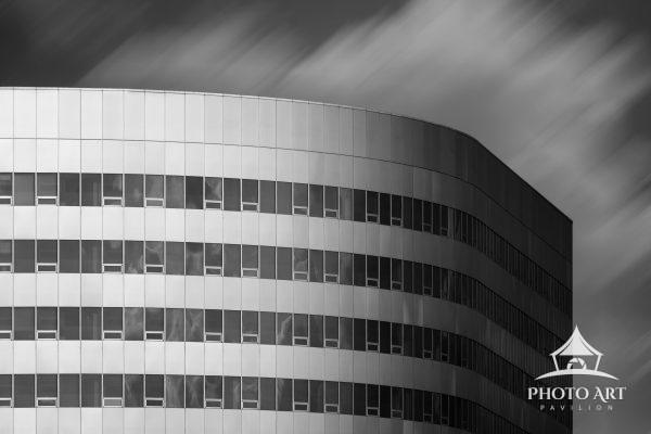 Curved building in Arlington, VA