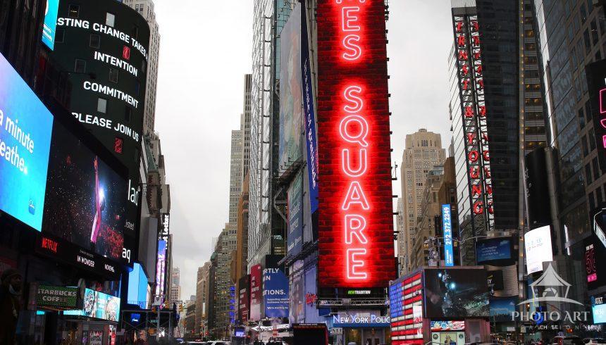 1965 Black Corvette in Time Square, NYC