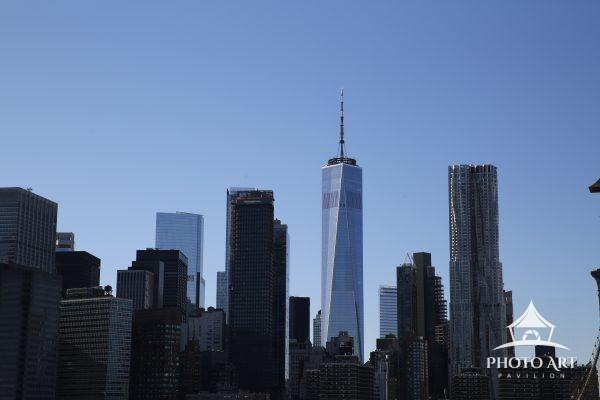 The Freedom Tower viewed from Dumbo, Brooklyn.