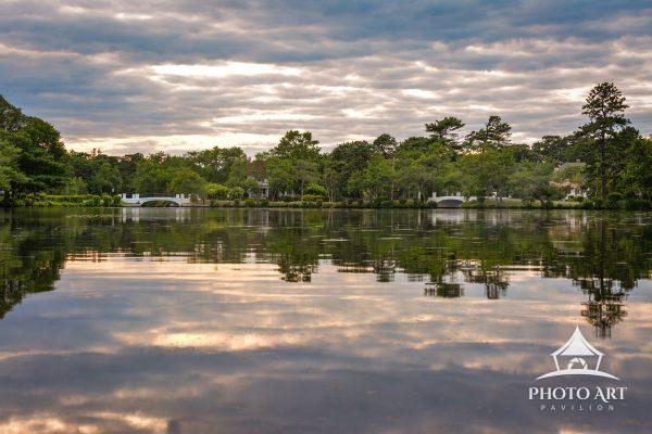 Overlooking the Lower Cascade Lake in Brightwaters, New York. Beautiful sky helped to make the