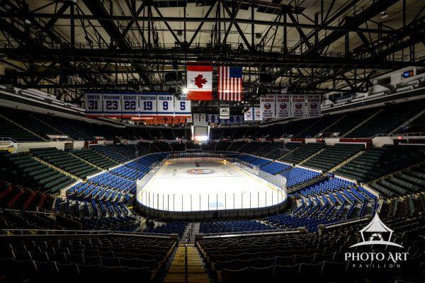 Love seeing the full Nassau Veterans Memorial Coliseum in this wide-angle photo. Which was once home