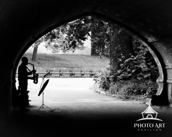 Under the arches of New York City's Central Park, the sound of music echoes far and wide. The