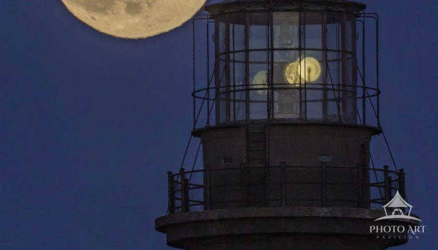 """The last Full Moon of the decade, otherwise called the """"Cold Moon"""" begins it's cross behind the"""
