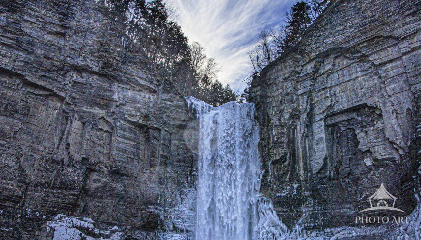 Ithaca is gorges and falls. Taughannock is one of its numerous waterfalls. An easy hike brings you
