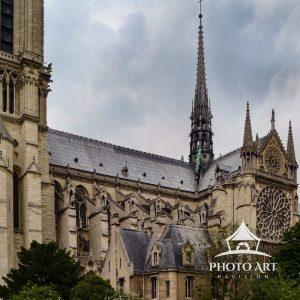 Notre Dame Cathedral exterior led roof and spire before the fire.